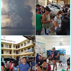 필리핀 따알화산 피해 긴급 구호금 전달
